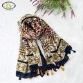 180*100 cm 1 UNID 2017 Primavera Nuevo Diseño de La Gasa de Algodón de Las Mujeres Largas Borlas Bufanda Delgada Mujer Nueva Viscosa borlas Delgadas Pashminas Chal