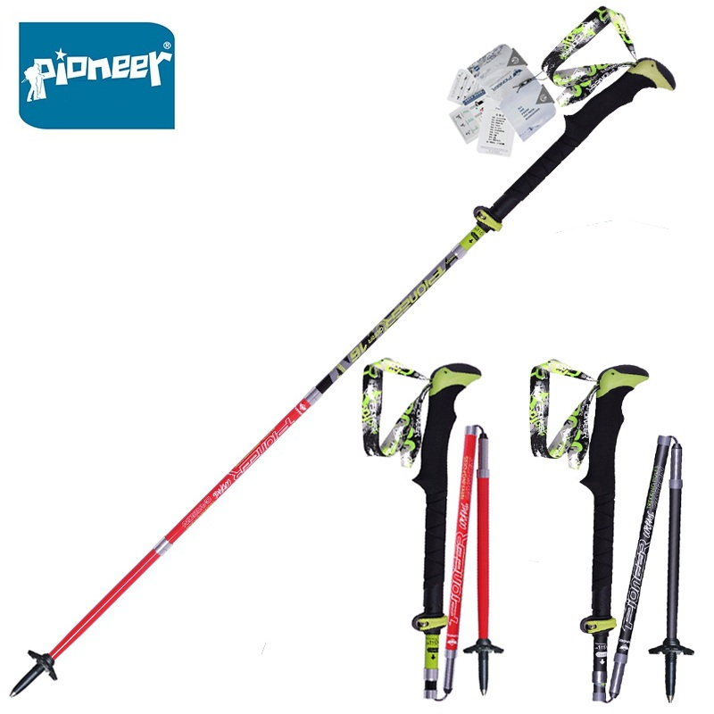 PIONEER Carbon Fiber Walking Trekking Poles Ultralight Folding Collapsible Trailing Hiking Walking Sticks CanesPIONEER Carbon Fiber Walking Trekking Poles Ultralight Folding Collapsible Trailing Hiking Walking Sticks Canes