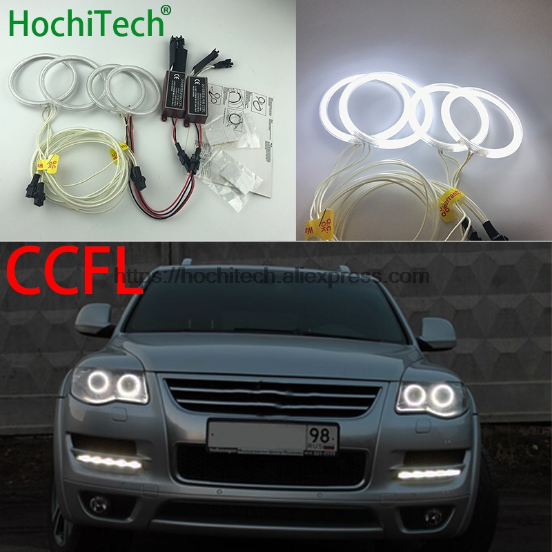 HochiTech For Volkswagen VW Touareg 2007 08 09 2010 car styling WHITE 6000K CCFL Headlight Halo Angel Eyes Kit angel eyes light все цены