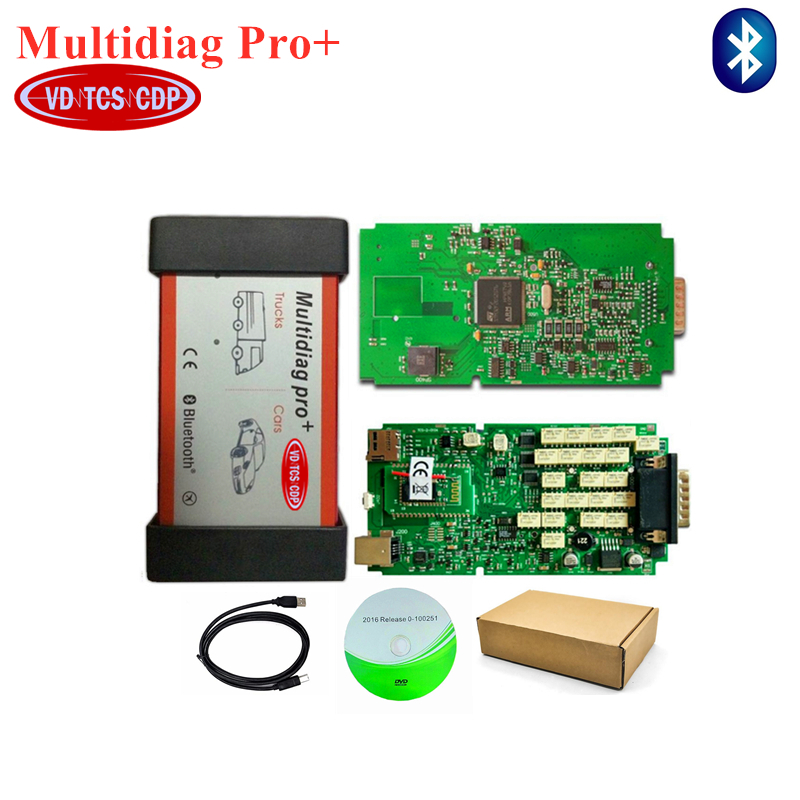 A quality Single Green pcb with bluetooth multidiag pro Scanner 2016 0 software free activate new