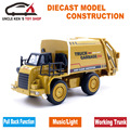 Diecast Toy Garbage Truck Model Truck, Children/Kids Metal Toys, Car Toys with pull back function/music/light/openable trunk