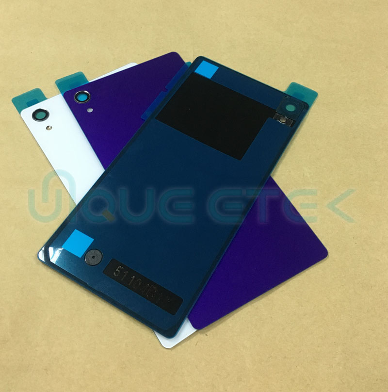 New For <font><b>Sony</b></font> Xperia <font><b>Z2</b></font> D6502 D6503 Rear glass <font><b>Battery</b></font> <font><b>Cover</b></font> Back Door Housing And Double Sticker Replacement parts image