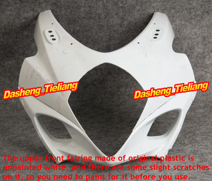 Injection Mold ABS Plastic Unpainted Upper Front Fairing Cowl Nose Fits for Suzuki 2007 2008 GSXR1000 K7 vehicle plastic accessory injection mold china makers