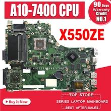X550ZE Motherboard A10-7400U For ASUS X550ZE X550Z K550Z laptop Motherboard X550ZE Mainboard X550ZE Motherboard test ok