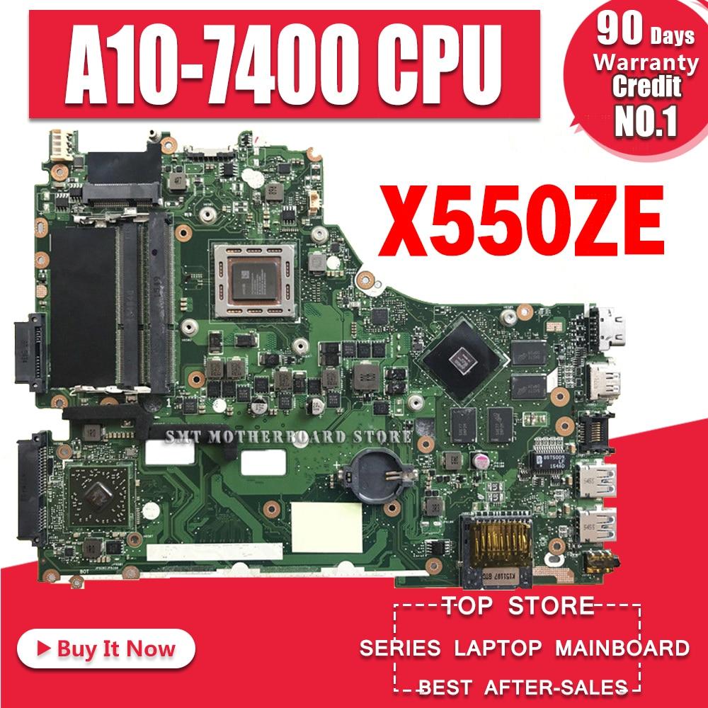 X550ZE האם A10-7400U עבור ASUS X550ZE X550ZA מחשב נייד X550Z K550Z מחשב נייד X550ZE לוח אם X550ZE בדיקת לוח האם אישור