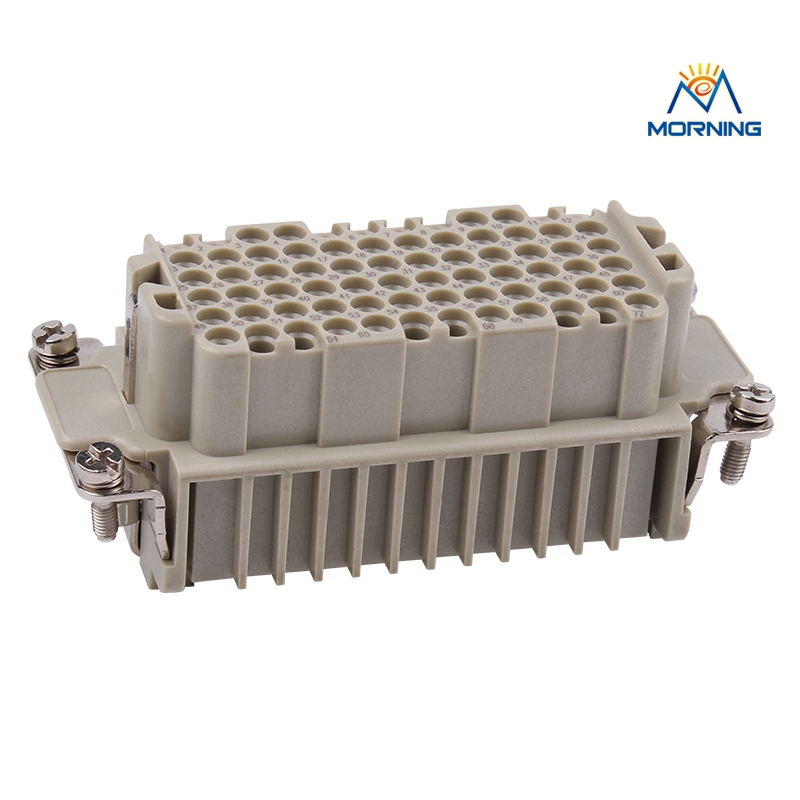 HDD-072 Female Copper Alloy Material Industrial 72 Pins Current 10A Voltage 250V Heavy Duty Connector, Male Crimp Terminal original 345 072 520 201 connector