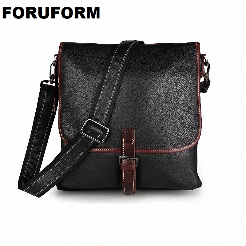 Fashion Men Bags 100% Genuine Leather Men Messenger Bags High Quality Brand Men's Shoulder Bag Business Bag Free Shipping LI-918 все цены