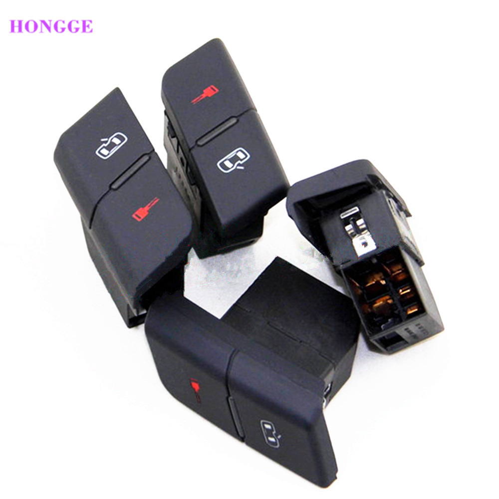 Imported From Abroad Hongge Qty 5 Front Left Driver Side Central Door Lock Switch For Vw A4 B6 B7 S4 Seat Exeo 8e1 962 107 8e1962107 8ed962107 Auto Replacement Parts