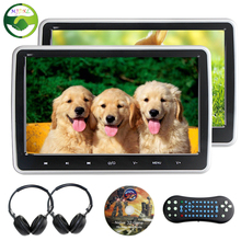 2x 10.1 inch HD 1024*600 TFT LCD Screen Portable Car Headrest Monitor DVD Player USB/SD/HDMI/FM Touch Button Game Remote Control