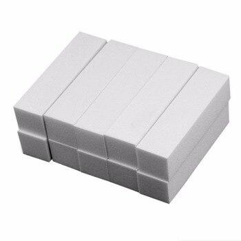 10Pcs White Buffing Sanding Pedicure Files Block Manicure Care Nail Art Buffer Nail Files & Buffers