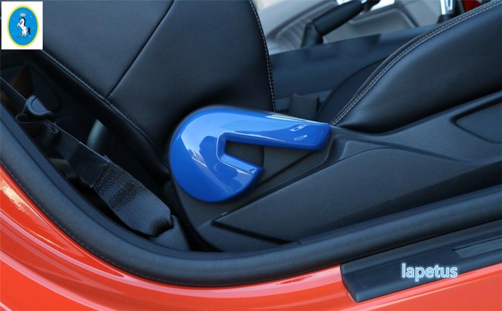 Lapetus Seat Backrest Adjustment Handle Decoration Frame Cover Trim 4 Color Fit For Ford Mustang 2015