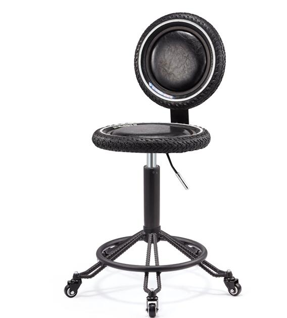 Bar Chair Lift Rotary Backrest Chair American Tire Highchair Bar Stool Salon Chair Work Bench.
