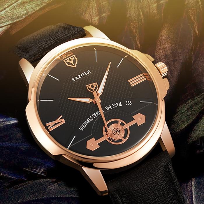 Yazole Mens Watches Top Brand Luxury Quartz Watch Men Wristwatches Male Clock Wrist Watch Quartz-watch Relogio Masculino YZL365 ibso luxury brand men wrist watch multifunction quartz watch mens leather watches relogio masculino 2018 male clock s3968g