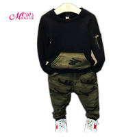 Spring Autumn Kids Boys Clothing Sets Camouflage Boys Long Sleeve Pullover Pants 2 Pcs Suits 2