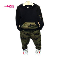 Spring Autumn Kids Boys Clothing Sets Camouflage Boys Long Sleeve Pullover+Pants 2 Pcs Suits 2 3 4 5 6 7 Years Children Clothes