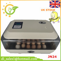 220V Mini Farm Fully Automatic Digital 24 Chicken Duck Poultry Hatcher Egg Incubators Hatching LED Display