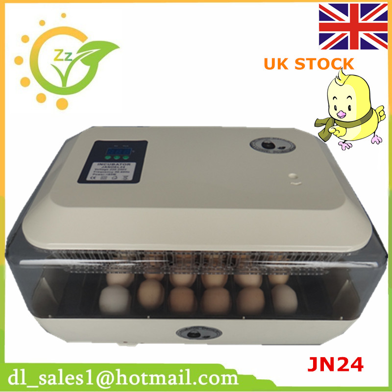 220V Mini farm fully automatic digital 24 chicken duck poultry hatcher egg incubators hatching LED display ce certificate poultry hatchery machines automatic egg turning 220v hatching incubators for sale