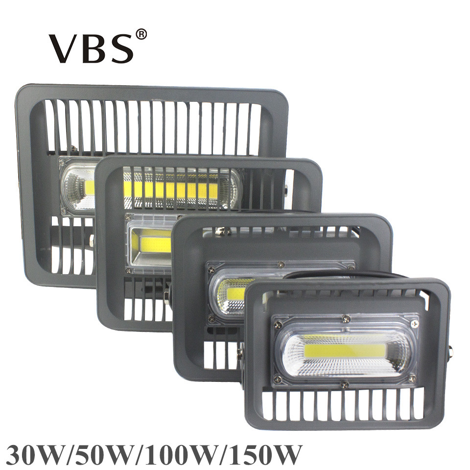 A MENÉ La Lumière D'inondation 150 W 100 W 50 W 30 W Led Réflecteur 100 W 50 W Lumière crue Led Éclairage Extérieur 220 V 110 V Led Spotlight Extérieure IP66