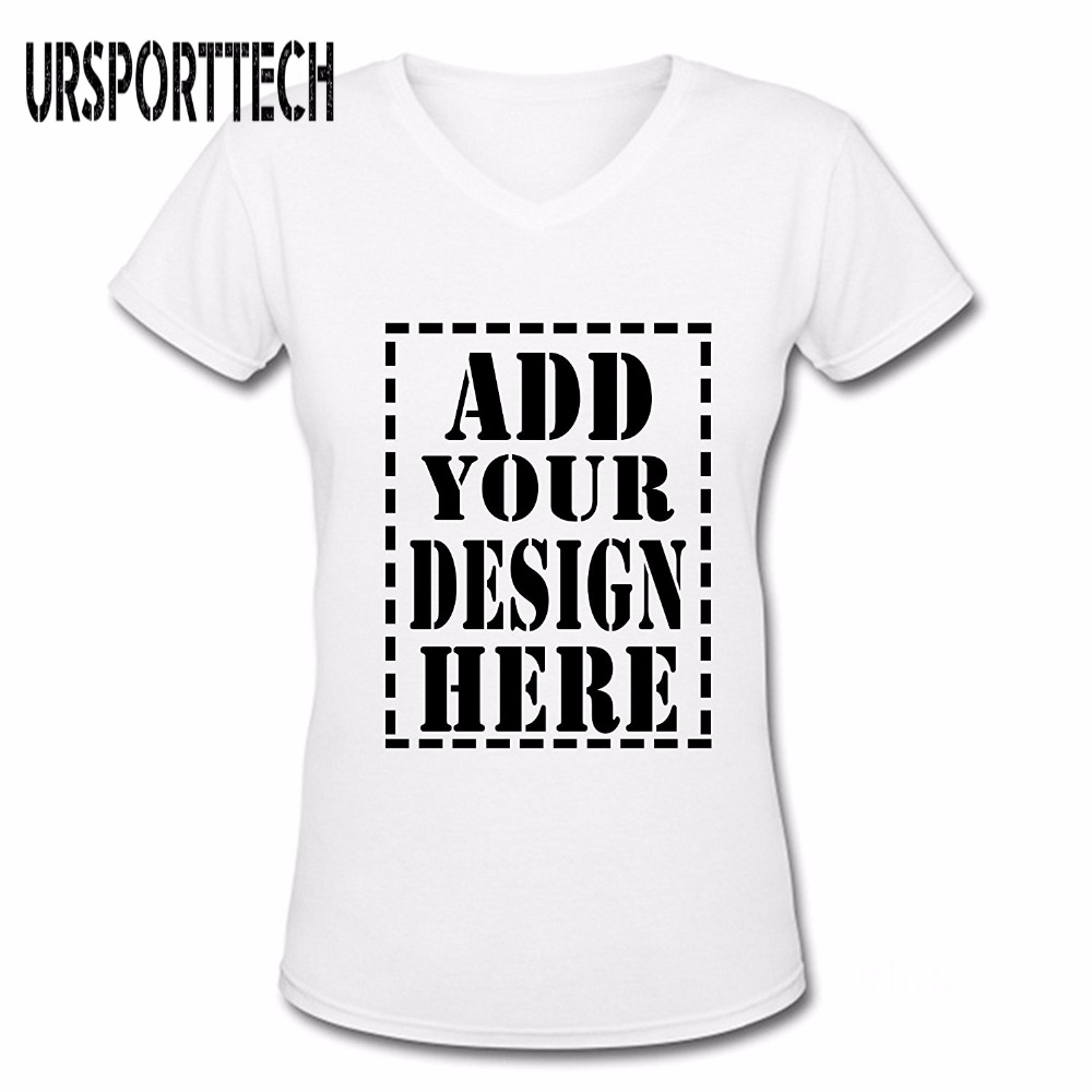 Ursporttech Customized T Shirt Women Female Print Your Own Design