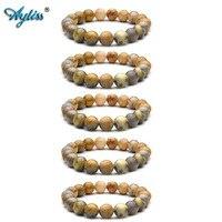 Ayliss 2018 New Wholesale 10MM Natural Gem Stone Healing Power Round Elastic Stretch Bracelet Jewelry 5pcs/10pcs
