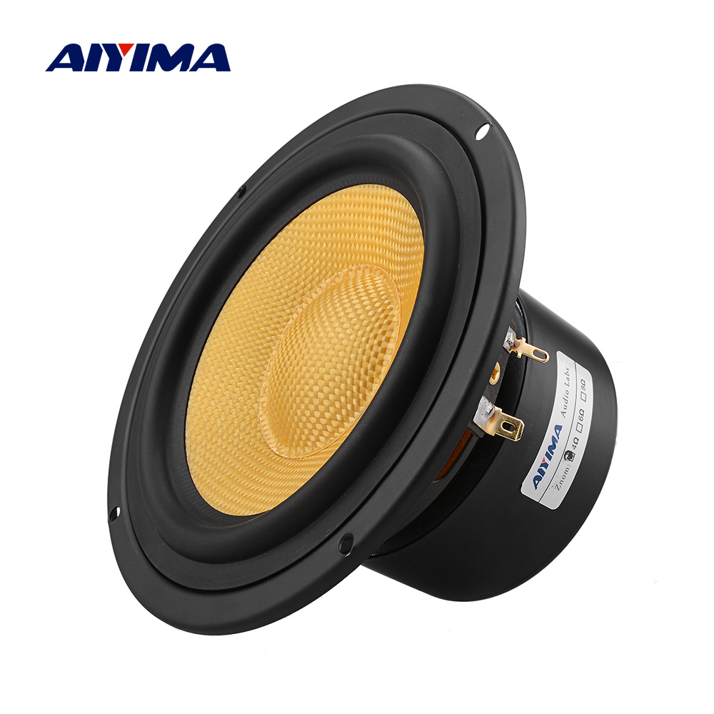AIYIMA 1Pcs 5.25 Inch Audio Speaker 4 8 Ohm 100W Mid Bass Speaker Column Woofer Fiberglass Cone Home Theater For Bookshelf DIY