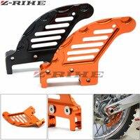 Orange Motorcycle CNC Aluminum Rear Brake Disc Guard For KTM 450 SX F07 14 450SX 03 06 450 EXC 03 07 450 EXC 09 14 450 XCF