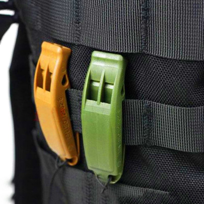 Double-Frequency Whistle Outdoor Survival Lifesaving whistle Safety Camping Emergency Whistle Random Color цена
