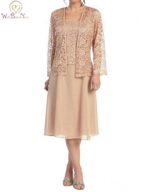 Vintage Three Quarter Length Wedding Dresses: 2019 Mother Of The Bride Dresses Sleeveless Knee Length