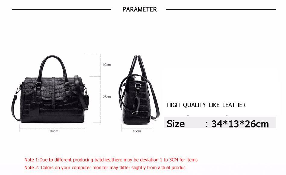 High Quality PU Leather Women's Handbags Shoulder Bag Ladies Hand Bags Stone Casual Women Bag Large Capacity Handbag 17 Sac 3