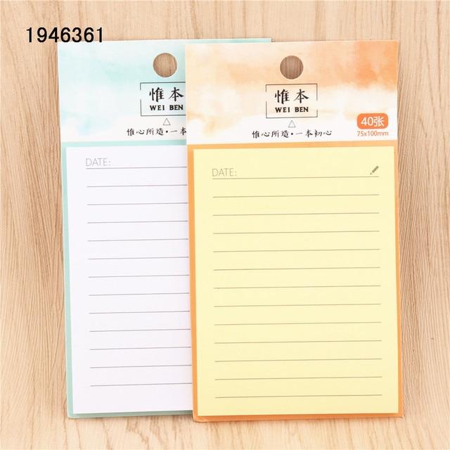 Horizontal line 40 page Self Adhesive Memo Pad Sticky Notes Bookmark