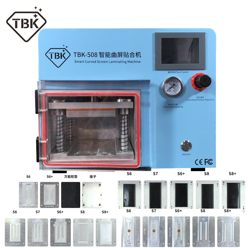 TBK 508 Vacuum Laminating OCA Repair Bubble Remover Machine LCD Curved Touch Screen Freezing Separating Machine Mould For Free