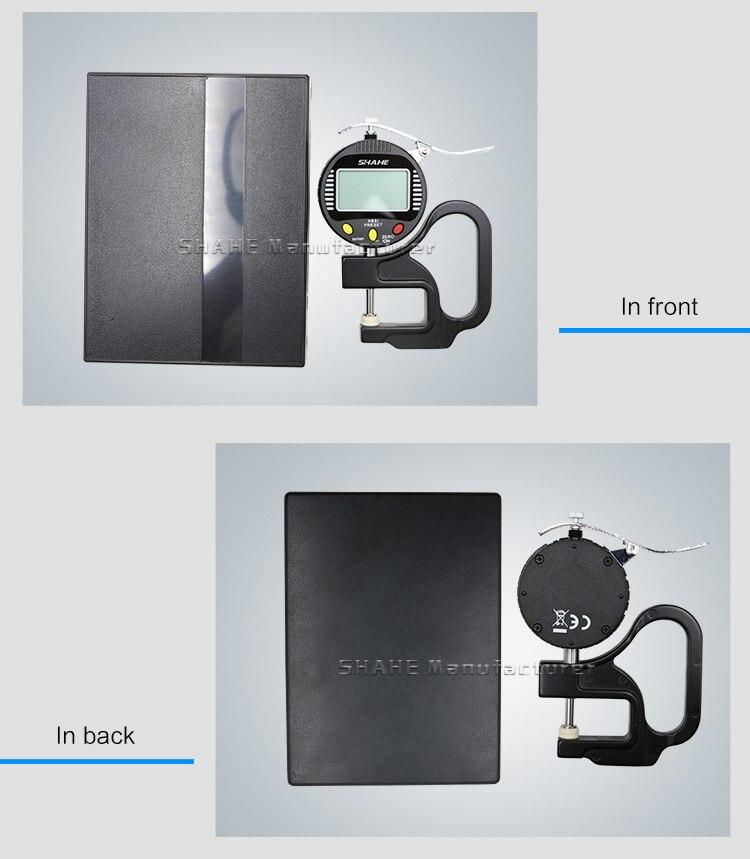 """0,001 мм Высокая точность электронный цифровой толщиномер 10 мм 0-0,"""" толщиномер кожи измеритель толщины бумаги"""