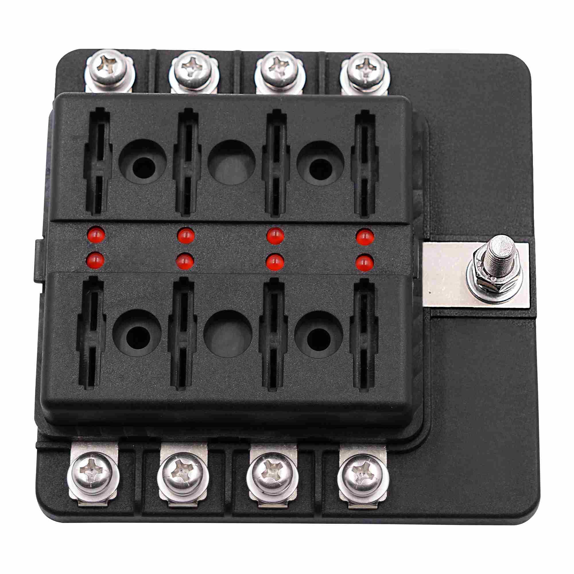 universal 8 way fuse box 12v 32v circuit standard blade block holder car caravan in [ 2000 x 2000 Pixel ]