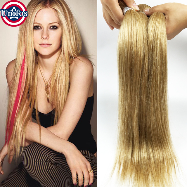 Honey Blonde Virgin Hair Straight 2 Bundles Blonde Human Hair