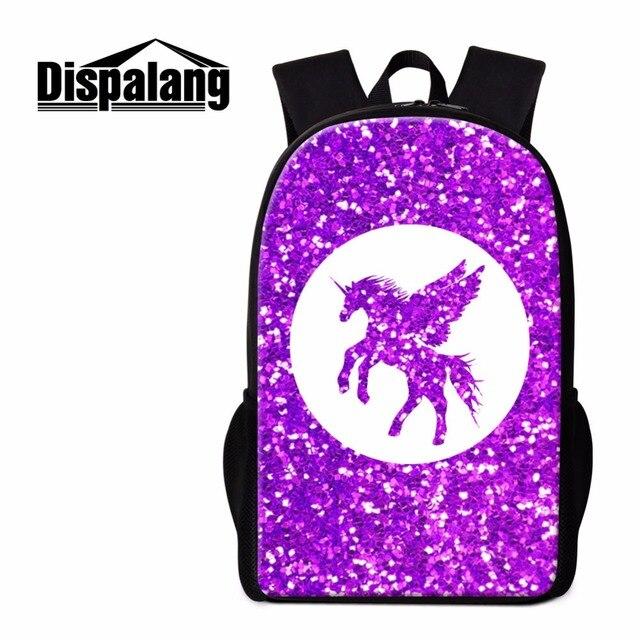 f28b655929 Dispalang Fashion School Backpack Unicorn Print Shoulder Back Pack Cute  Bookbag for Girls Lightweight Trendy Mochilas