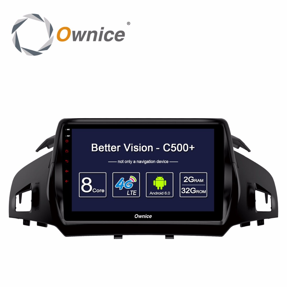 Ownice C500+ Android Octa Core CAR Radio dvd Video player FOR FORD KUGA 2013 2014 2015 2016 2017 GPS 4G LTE 2GB+32GB car player ownice c500 octa core 10 1 android gps car radio multimedia player 2g 32g for skoda octavia 2014 2015 2016 2017 dvd 4g lte pc