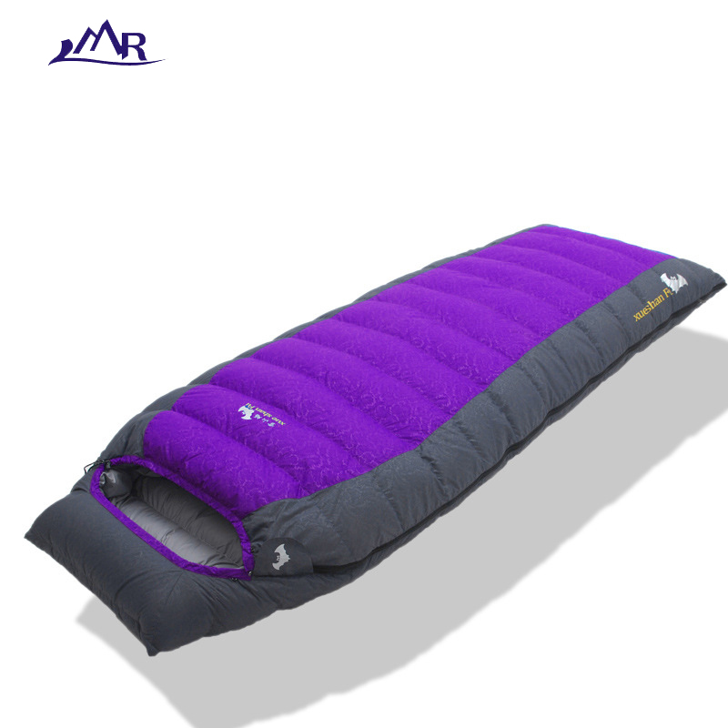 LMR camping outdoor sleeping bag duck down sleeping bag adult waterproof adult winter sleeping bag cold winter hiking ultralight adult down outdoor camping sleeping bag mummy model sleeping bag with waterproof nylon sleeping bag