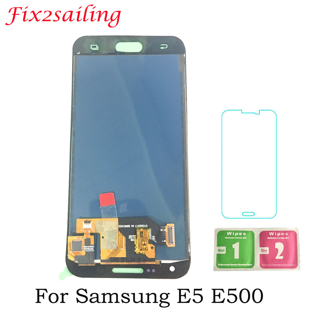 5,0 zoll Für Samsung Galaxy E5 E500 E500F <font><b>E500H</b></font> <font><b>LCD</b></font> Display Touchscreen Digitizer Montage Für SAMSUNG E5 <font><b>LCD</b></font> Einstellen helligkeit image
