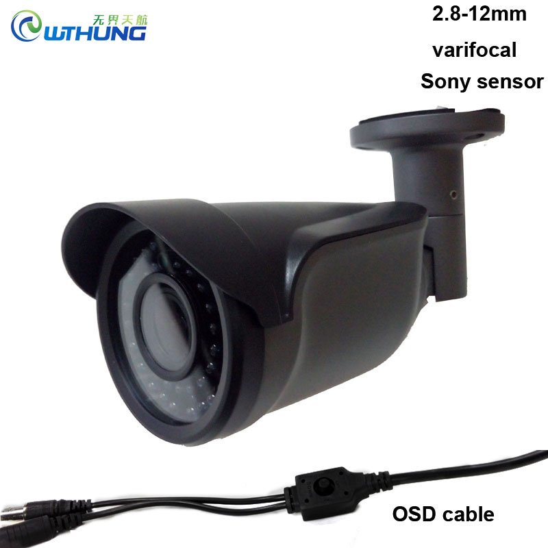 ФОТО 1080P Full AHD Camera 3MP 2.8-12mm varifocal zoom lens OSD Motion outdoor waterproof  Night Vision bullet security cctv cameras