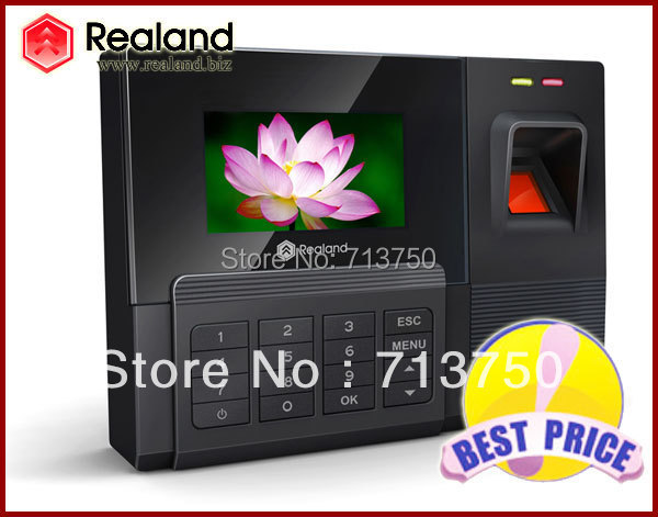 US $69 88 |Realand Biometric Fingerprint Time Clock Recorder Attendance  Employee Digital Electronic Standalone Punch Card ID Reader Machine-in Time
