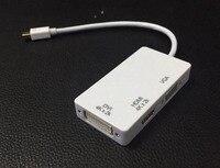 4Kx2k 3In1 Thunderbolt Mini Display Port MINI DP Male To HDMI DVI VGA Female Adapter Converter Cable For Apple MacBook Air Pro