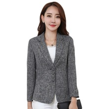 Plus Size 5XL Elegant Business Lady Jacket New 2017 Autumn Women Full Sleeve Work Blazer Female Casual Coat Six Color Available