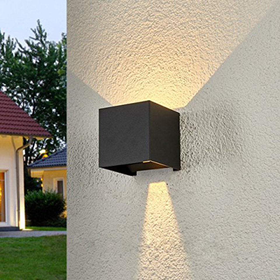 Xsky Wall Lamp Modern Cube Adjustable Surface Mounted 12W LED Wall Light Outdoor Waterproof Aluminum Sconce Garden Porch Lights недорого