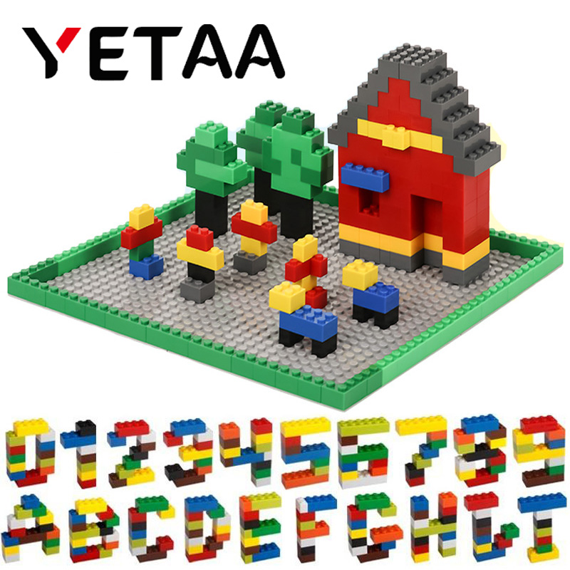 YETAA Multiple Colors Assorted Mixed Building Bricks Legoed figures DIY Particles Building Blocks Construction Toys for Children