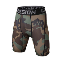 Camouflage Quick Dry Men Tight Skin Compression Shorts 9 Colors Style