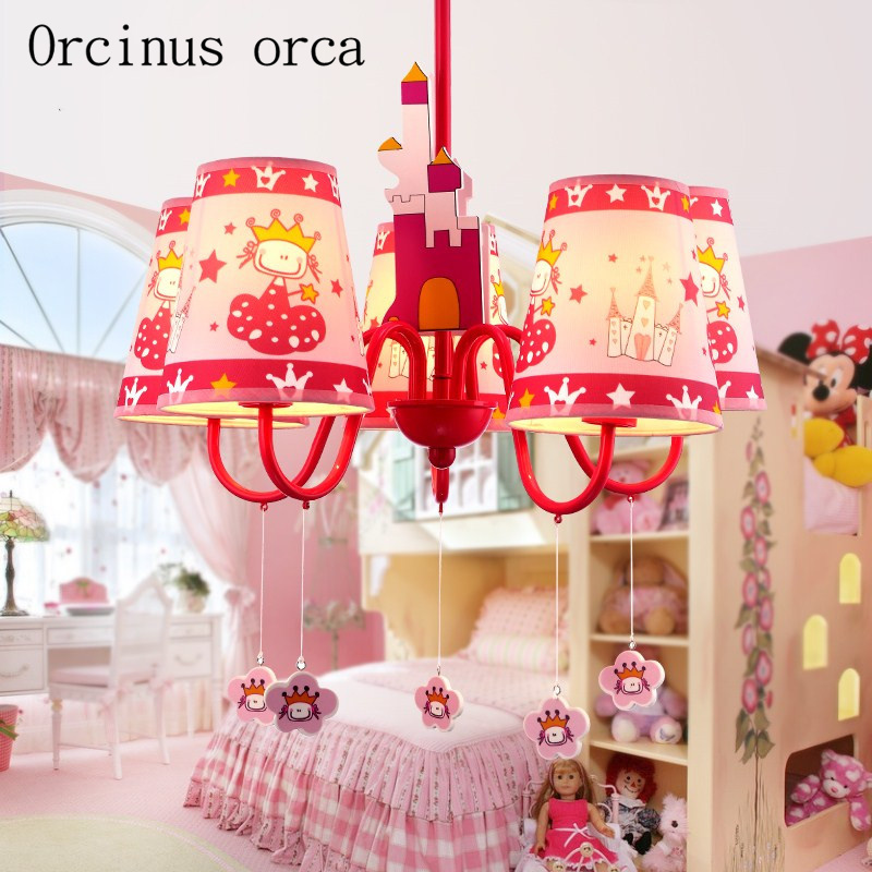 Fashion cartoon childrens room chandelier personality lovely creative cozy girl room LED Princess Chandelier free shippingFashion cartoon childrens room chandelier personality lovely creative cozy girl room LED Princess Chandelier free shipping