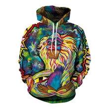 Headbook Spring Autumn Thin Hooded Hoodies Men women 3d Sweatshirts With Cap Print Wizard Clown Oil