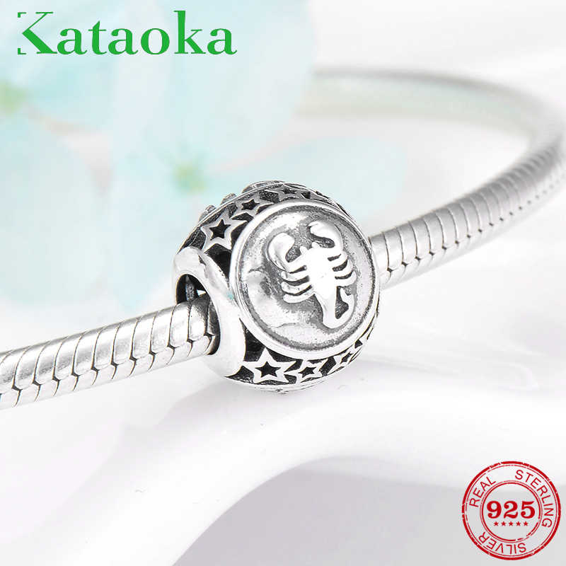 ea3a69e02 ... accessories trendy Scorpio Constellation 925 Sterling Silver beads Fit  Original Pandora Charm Bracelet Jewelry making on Aliexpress.com | alibaba  group