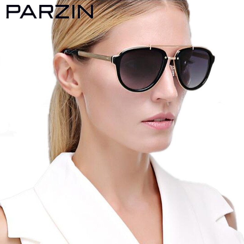 16a2ea38f9 Aliexpress.com : Buy Parzin New Polarized Sunglasses Women Handmade Female  Sun Glasses For Driving Fashion Eyewear With Case Black 9622 from Reliable  ...