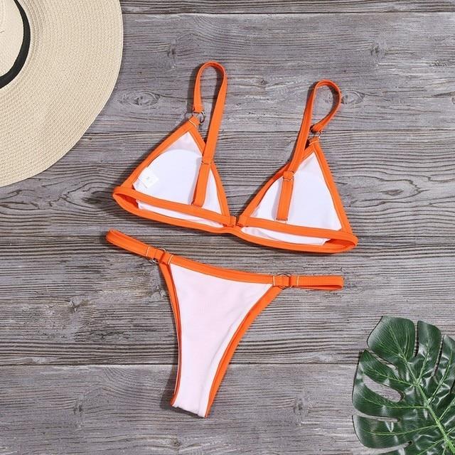 Sexy Solid Bikini Set Low Waist Swimwear Women Brazilian Bathing Suit Summer Swimsuit Female Backless Beachwear Biquini Mujer 4
